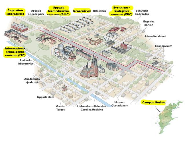 gotland karta avstånd Campus, karta och vägbeskrivning   Vetenskapsområdet för teknik  gotland karta avstånd